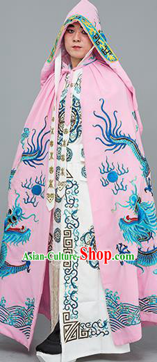 Chinese Traditional Peking Opera Takefu Costume Ancient Changing Faces Pink Cloak for Adults