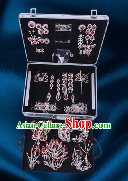 Chinese Traditional Peking Opera Princess Hair Accessories Ancient Fairy Phoenix Hairpins for Women