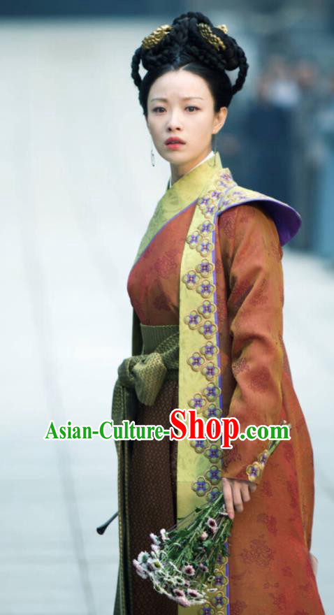 Chinese Ancient Crown Princess Costumes The Rise of Phoenixes Tang Dynasty Palace Lady Dress for Women xxxxxl