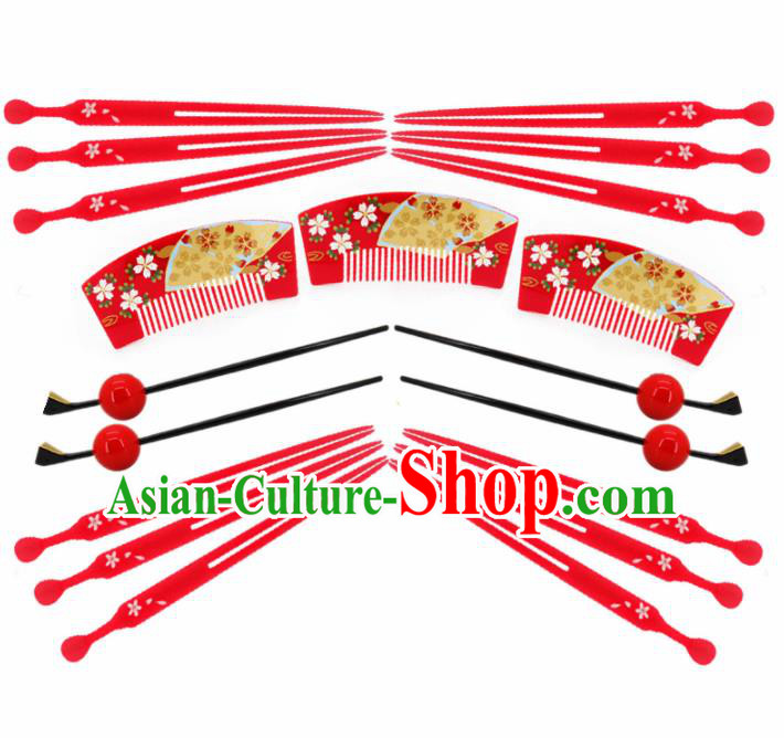 Japanese Traditional Hair Accessories Ancient Courtesan Kimono Hairpins Hair Combs for Women
