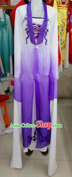 Chinese Traditional Beijing Opera Actress Purple Dress Ancient Court Maid Embroidered Costumes for Women
