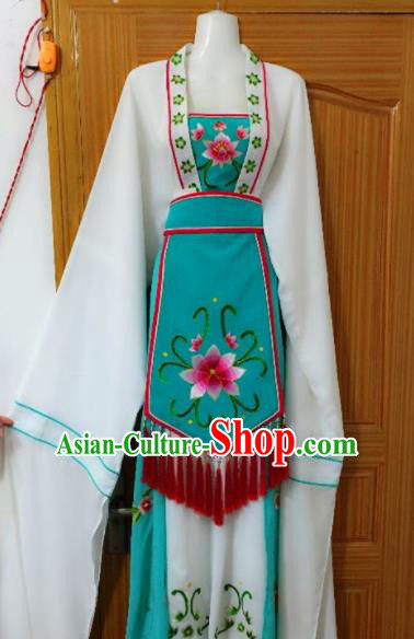 Chinese Traditional Peking Opera Peri Dress Ancient Young Lady Embroidered Costumes for Rich