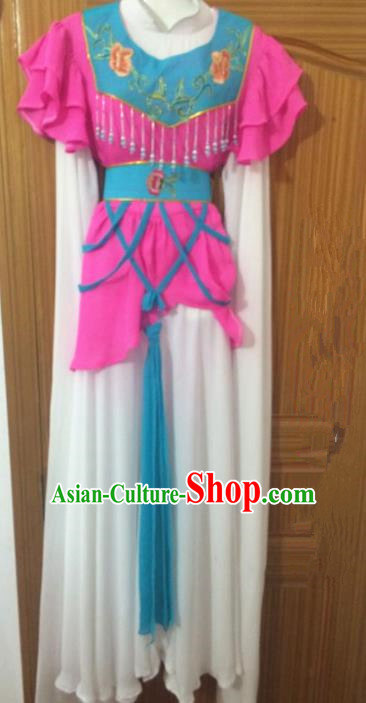 Chinese Traditional Peking Opera Poor Lady Dress Ancient Maidservants Embroidered Costumes for Women