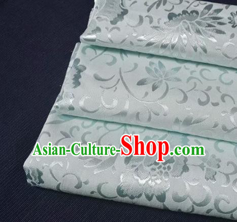 Chinese Royal Brocade Palace Style Traditional Lotus Pattern Design Silk Fabric Chinese Fabric Asian Material
