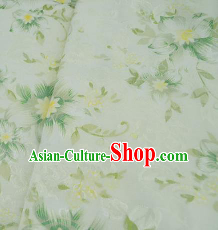 Chinese Royal Green Brocade Palace Style Traditional Pattern Design Silk Fabric Chinese Fabric Asian Material