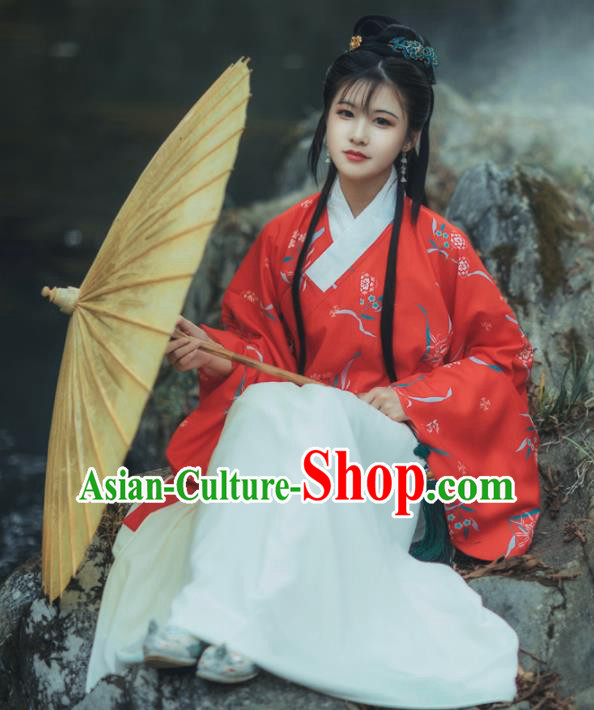 Chinese Ming Dynasty Princess Costumes Traditional Ancient Noble Lady Hanfu Dress for Women