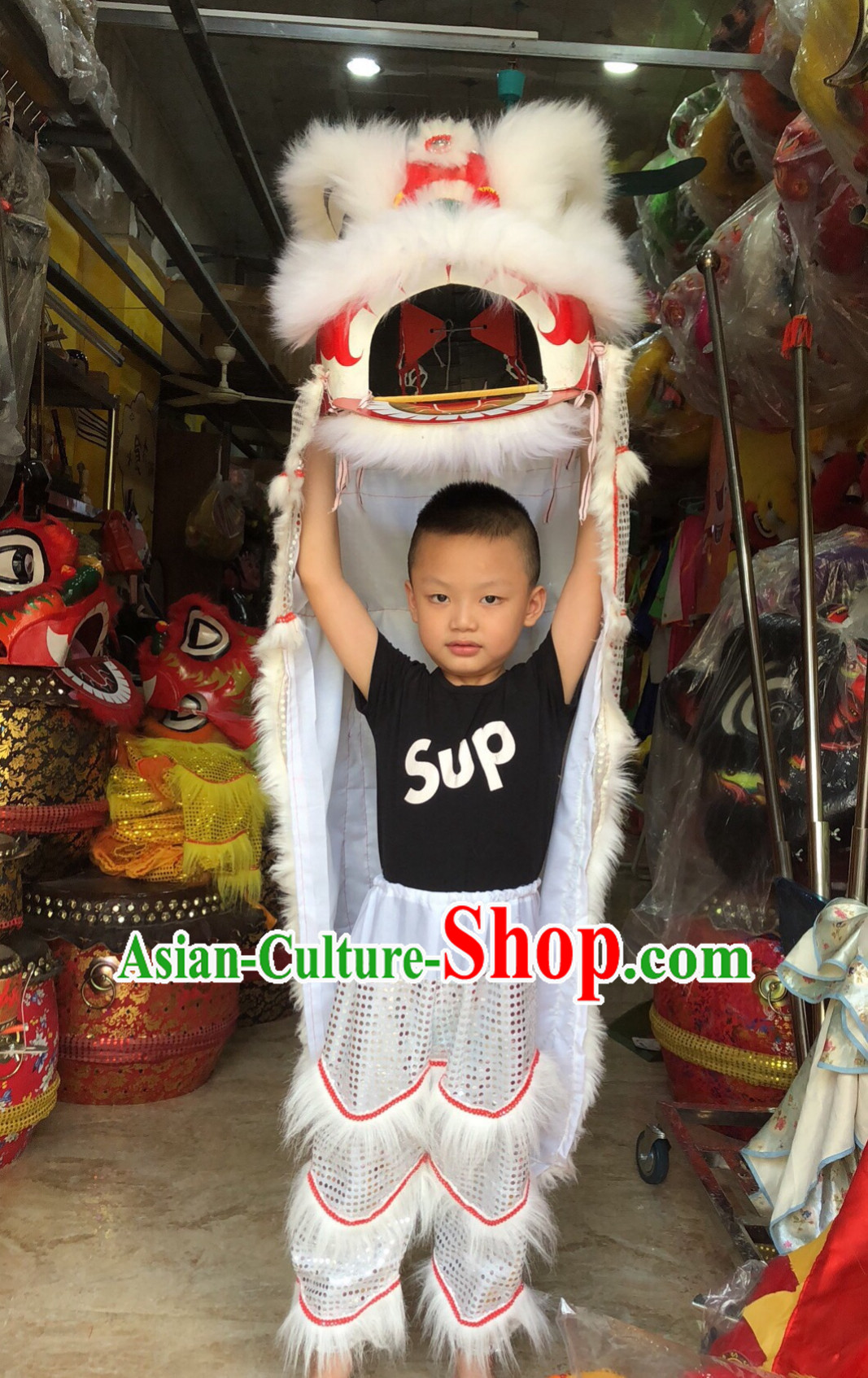 Traditional Chinese One Kid One Child Lion Dance Costume