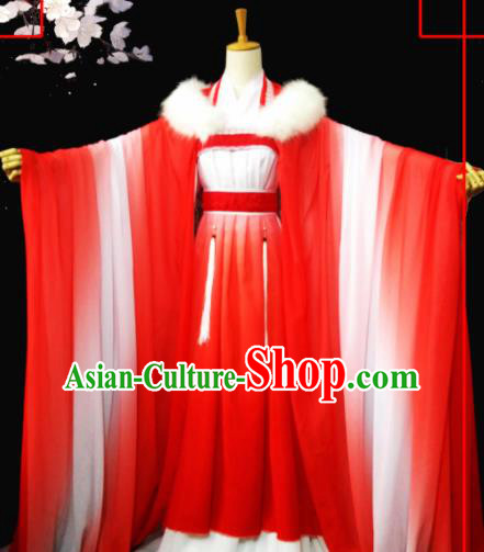 Chinese Ancient Palace Princess Hanfu Dress Cosplay Peri Costumes for Women
