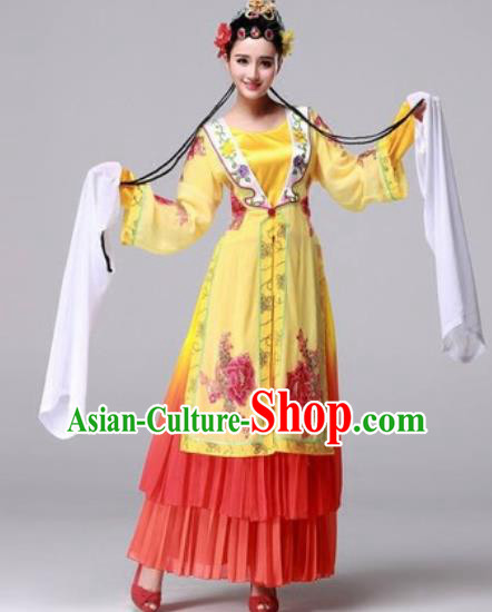Chinese Traditional Classical Dance Folk Dance Fan Dance Costume for Women