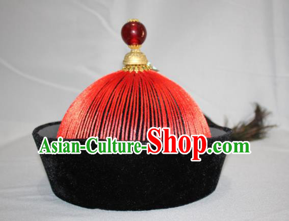 Chinese Traditional Qing Dynasty Mandarin Ancient Minister Hat for Men