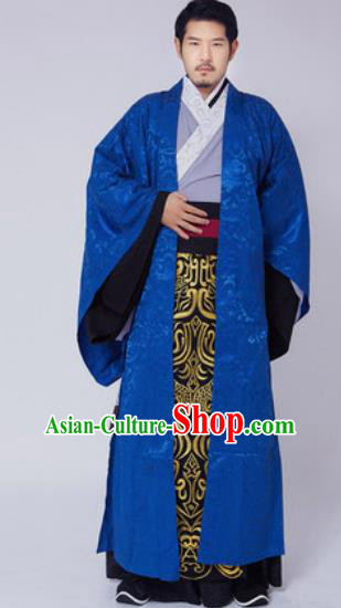 Traditional Chinese Ancient Swordsman Embroidered Costumes for Men