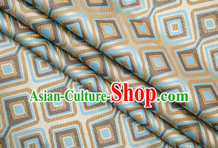 Chinese Traditional Apparel Qipao Fabric Golden Brocade Classical Pattern Design Material Satin Drapery