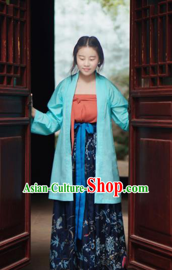 Traditional Chinese Ancient Song Dynasty Nobility Lady Hanfu Dress for Women