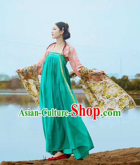 Traditional Chinese Ancient Tang Dynasty Palace Princess Hanfu Dress for Women