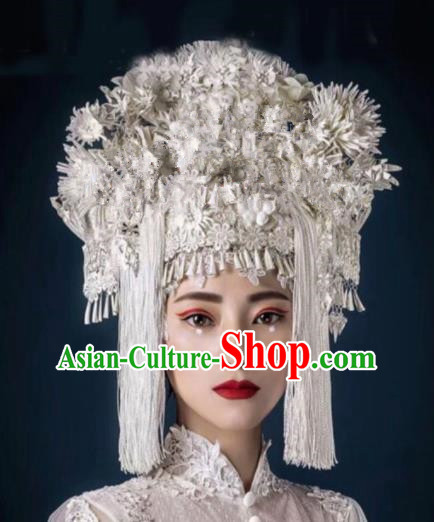 Chinese Traditional Ancient Bride Headdress Palace Phoenix Coronet Hair Accessories for Women