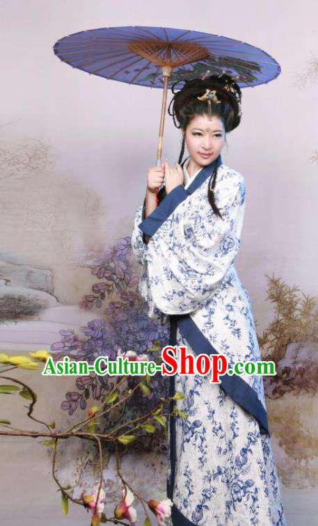 Ancient Chinese Traditional Costumes Han Dynasty Imperial Concubine Hanfu Dress for Women