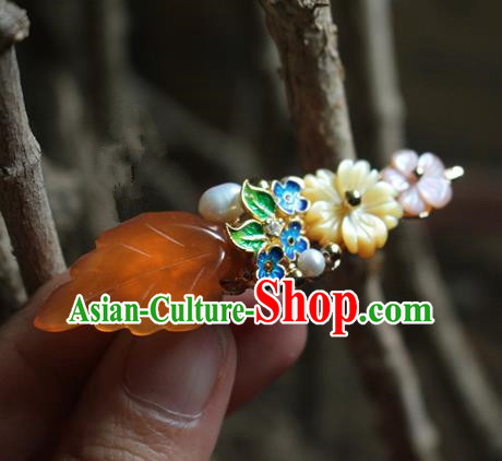 Asian Chinese Traditional Hanfu Cloisonne Hair Claw Ancient Palace Hairpins for Women