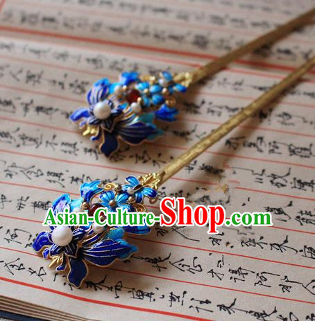 Asian Chinese Traditional Hanfu Butterfly Hair Clip Ancient Palace Hairpins for Women