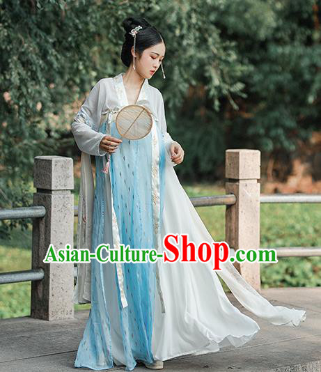 Chinese Ancient Tang Dynasty Princess Hanfu Dress Traditional Palace Lady Costumes for Women