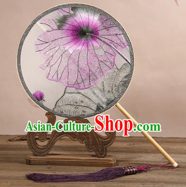 Chinese Ancient Princess Palace Fan Traditional Embroidered Hanfu Silk Fans for Women
