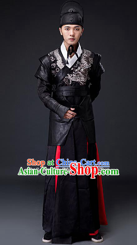 Chinese Ancient Ming Dynasty Blades Imperial Guards Embroidered Costumes for Men