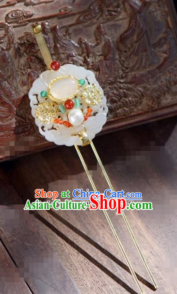 Chinese Ancient Wedding Hair Jewelry Accessories Jade Hairpins for Women