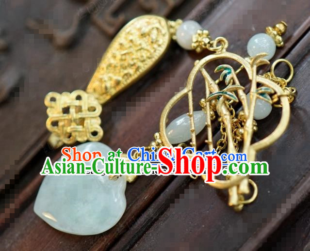 Chinese Traditional Palace Brooch Ancient Bride Hanfu Breastpin Jewelry Accessories for Women