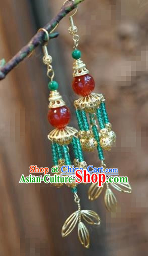 Chinese Traditional Wedding Earrings Ancient Bride Hanfu Jewelry Accessories for Women