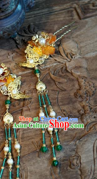 Chinese Ancient Wedding Hair Accessories Tassel Step Shake Palace Queen Hairpins for Women