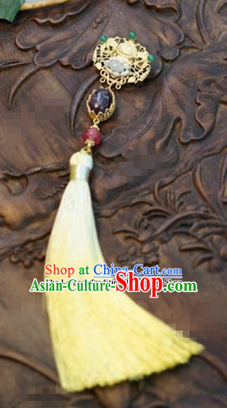 Chinese Traditional Wedding Hanfu Tassel Brooch Ancient Bride Palace Jewelry Accessories for Women