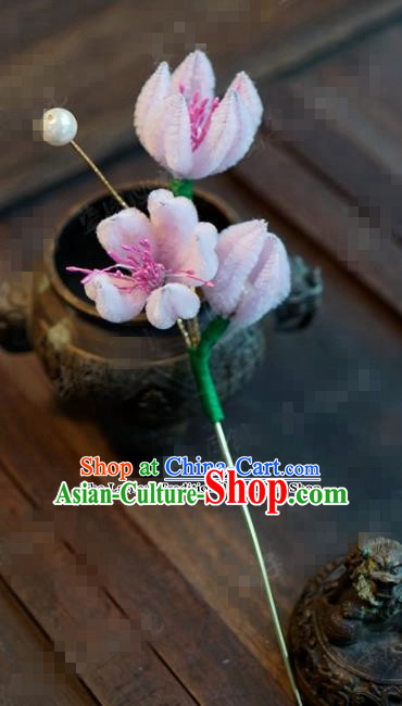 Chinese Ancient Empress Flowers Hair Clip Palace Hairpins for Women