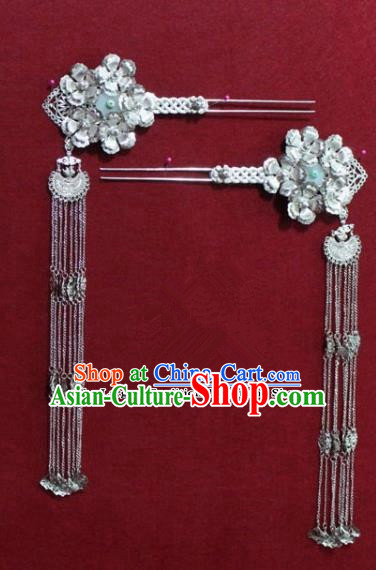 Chinese Ancient Tang Dynasty Queen Hair Accessories Tassel Hair Clip Hairpins for Women
