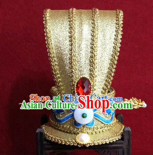 Chinese Traditional Classical Hair Accessories Ancient Royal Highness Hairdo Crown for Men