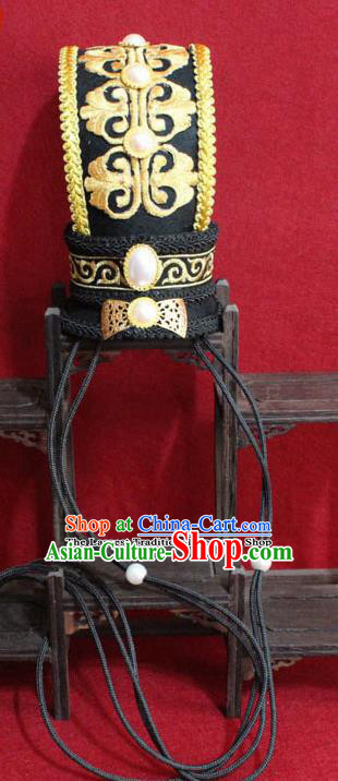 Chinese Traditional Classical Hair Accessories Ancient Prince Black Hairdo Crown for Men