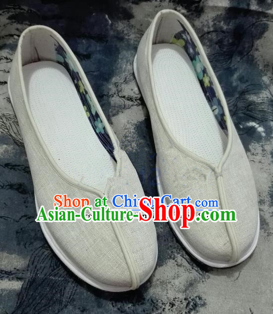 Chinese Traditional Hanfu Shoes Ancient Princess Shoes Handmade Linen Shoes for Women