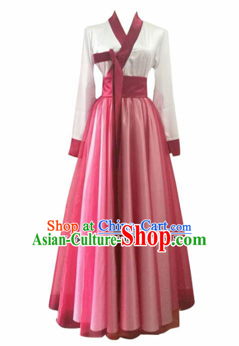 Chinese Traditional Folk Dance Costumes Classical Dance Red Clothing for Women