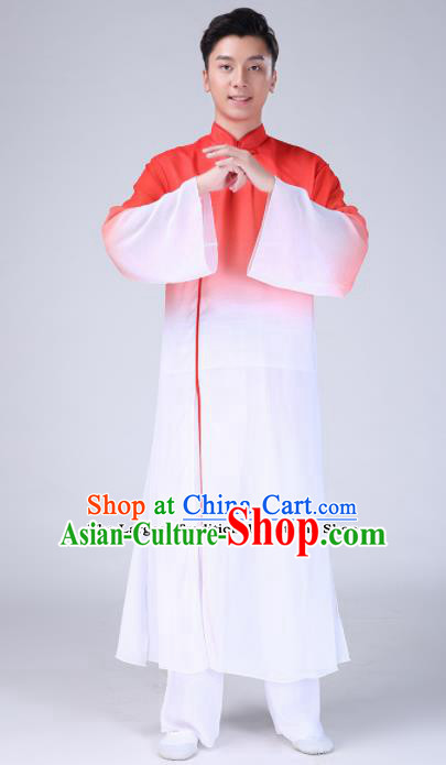 Chinese Traditional Folk Dance Clothing Classical Dance Red Costumes for Men
