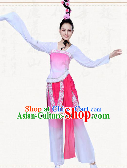 Chinese Traditional Classical Dance Clothing Folk Dance Group Dance Umbrella Dance Costumes for Women