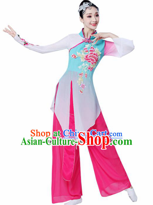 Chinese Traditional Folk Dance Dress Classical Dance Umbrella Dance Costumes for Women