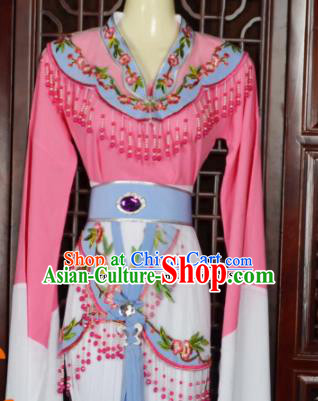 Traditional Chinese Beijing Opera Actress Costumes Ancient Peri Princess Pink Dress for Adults
