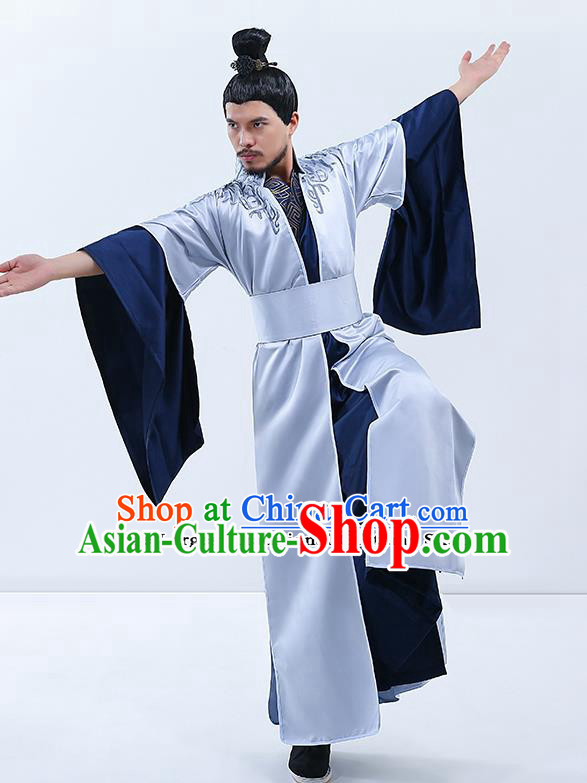 Traditional Chinese Zhou Dynasty Royal Highness Costumes Ancient Drama Prince Clothing for Men