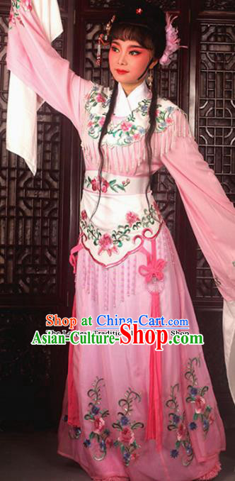 Traditional Chinese Peking Opera Costumes Ancient Peri Princess Pink Dress for Adults