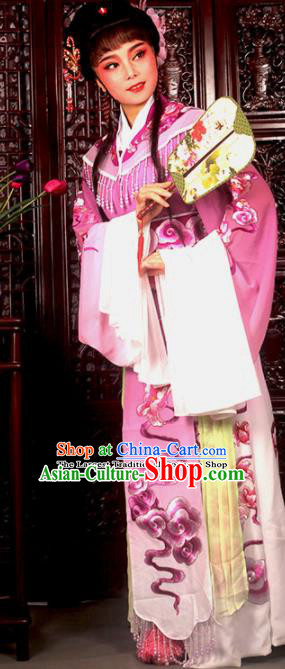 Traditional Chinese Peking Opera Imperial Consort Costumes Ancient Peri Lilac Dress for Adults
