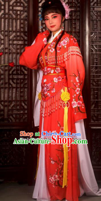 Traditional Chinese Peking Opera Imperial Consort Costumes Ancient Palace Lady Red Dress for Adults