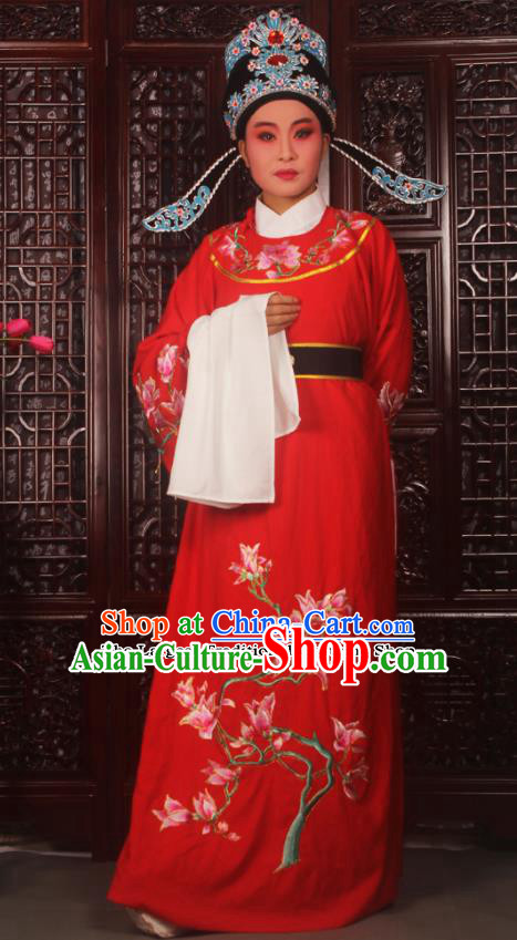 Top Grade Chinese Beijing Opera Niche Red Costumes Peking Opera Embroidered Magnolia Clothing for Adults