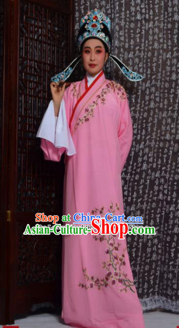 Top Grade Chinese Peking Opera Niche Costumes Embroidered Pink Robe for Adults