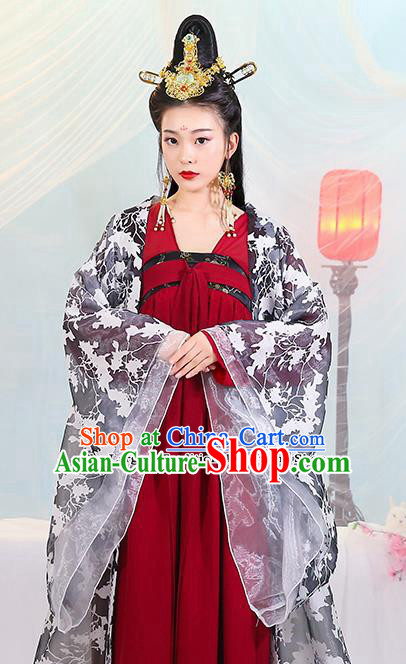 Chinese Traditional Tang Dynasty Princess Costumes Ancient Drama Peri Dress for Women