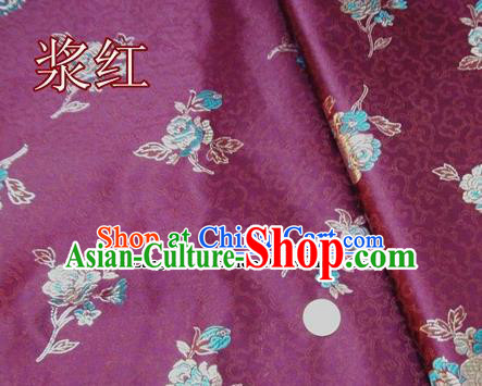 Traditional Chinese Royal Pattern Amaranth Brocade Tang Suit Fabric Silk Fabric Asian Material