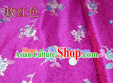 Traditional Chinese Royal Pattern Rosy Brocade Tang Suit Fabric Silk Fabric Asian Material