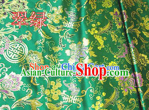 Traditional Chinese Green Brocade Tang Suit Palace Fabric Silk Fabric Asian Material